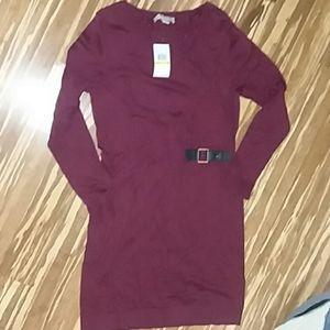 Michael Kors NWT Burgundy Sweater Dress Size M